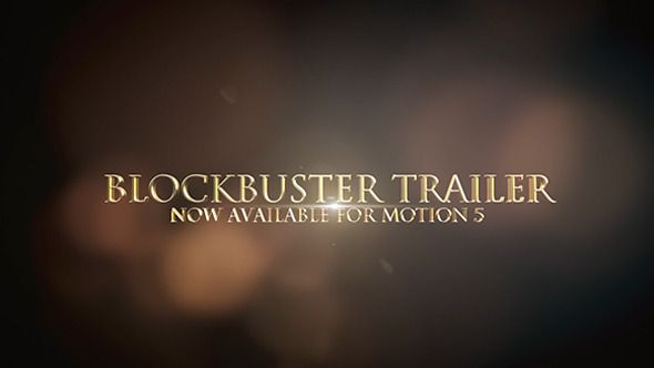 Cinematic Trailer Titles For Motion