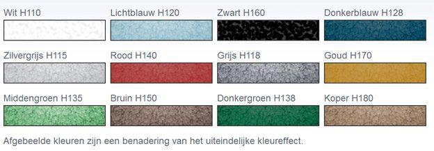 Afbeeldingsresultaat voor hammerite kleurenkaart