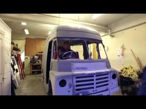 Melbourne photographer Matt Irwin visits Grace the vintage ice cream truck in East Brunswick, Melbourne at  Triple R Luxury Car Hire.