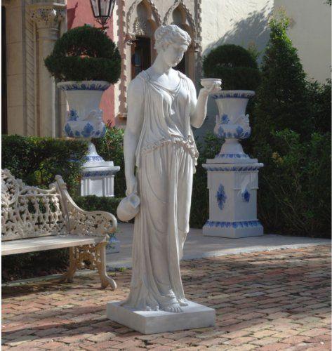 Design Toscano 32 in. Hebe by Thorvaldsen Replica Statue by Design Toscano. $139.00. Cast in Quality Designer Resin.. Sculpture is hollow inside. Almost 3-feet tall.. Thorvaldsen truly captured the eternal beauty of youth with his sculptural likeness of Hebe, cupbearer of the Greek gods. An investment in classic European style, our more than five-foot-tall artistic replica is cast in quality designer resin as a sophisticated statement piece for your garden or home.  Estat...