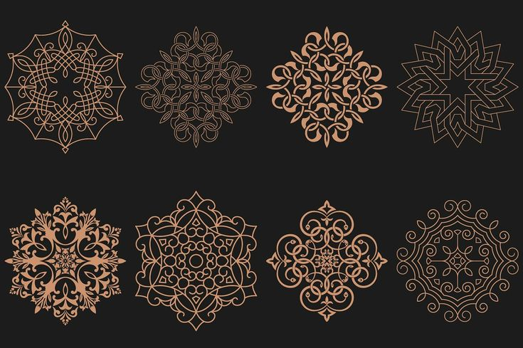 Set of circular Arabic patterns by baretsky on @creativemarket