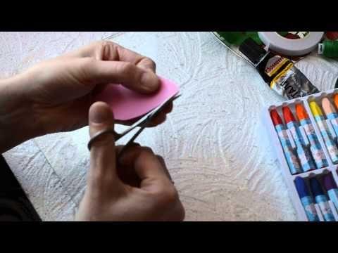 полезности для цветов из фоамирана. Вырезаем и обрабатываем лепестки - YouTube
