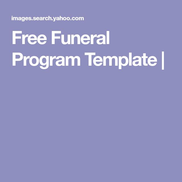 The 25+ best Funeral program template free ideas on Pinterest - programs templates free