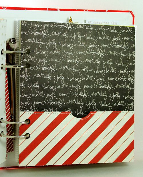December Daily Foundation Pages by Julie Campbell at @Studio_Calico.  Like the pocket she made.