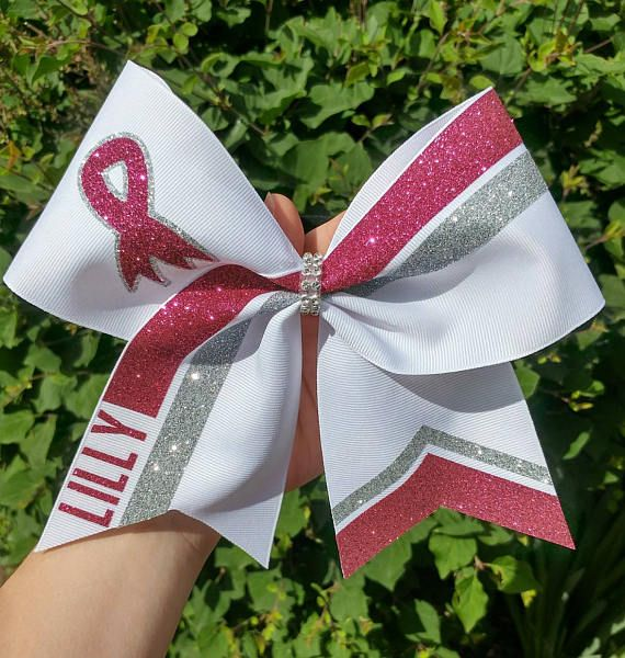 Breast Cancer Awareness Cheer Bow pink cheer bow pink out