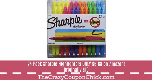 **BACK TO SCHOOL** 24 Pack Sharpie Highlighters ONLY $6.88 on Amazon!