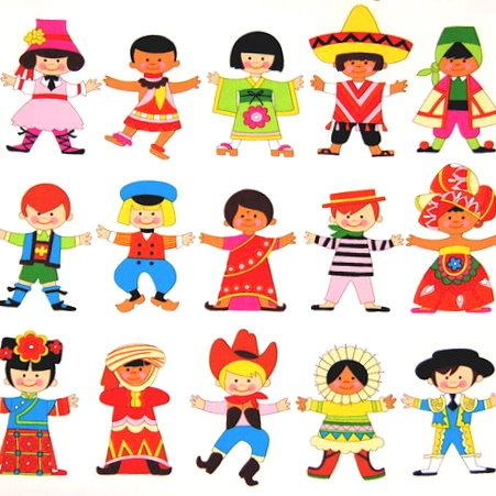 free children around the world clipart
