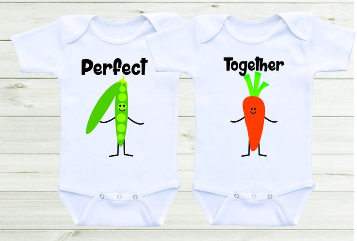4740487e0 We go together like peas and carrots Baby Onesies Twin Onesies Twin Outfits  Funny Onesies Cute Twin Shirts Unisex Baby Shower Gift | Matching Shirts ...