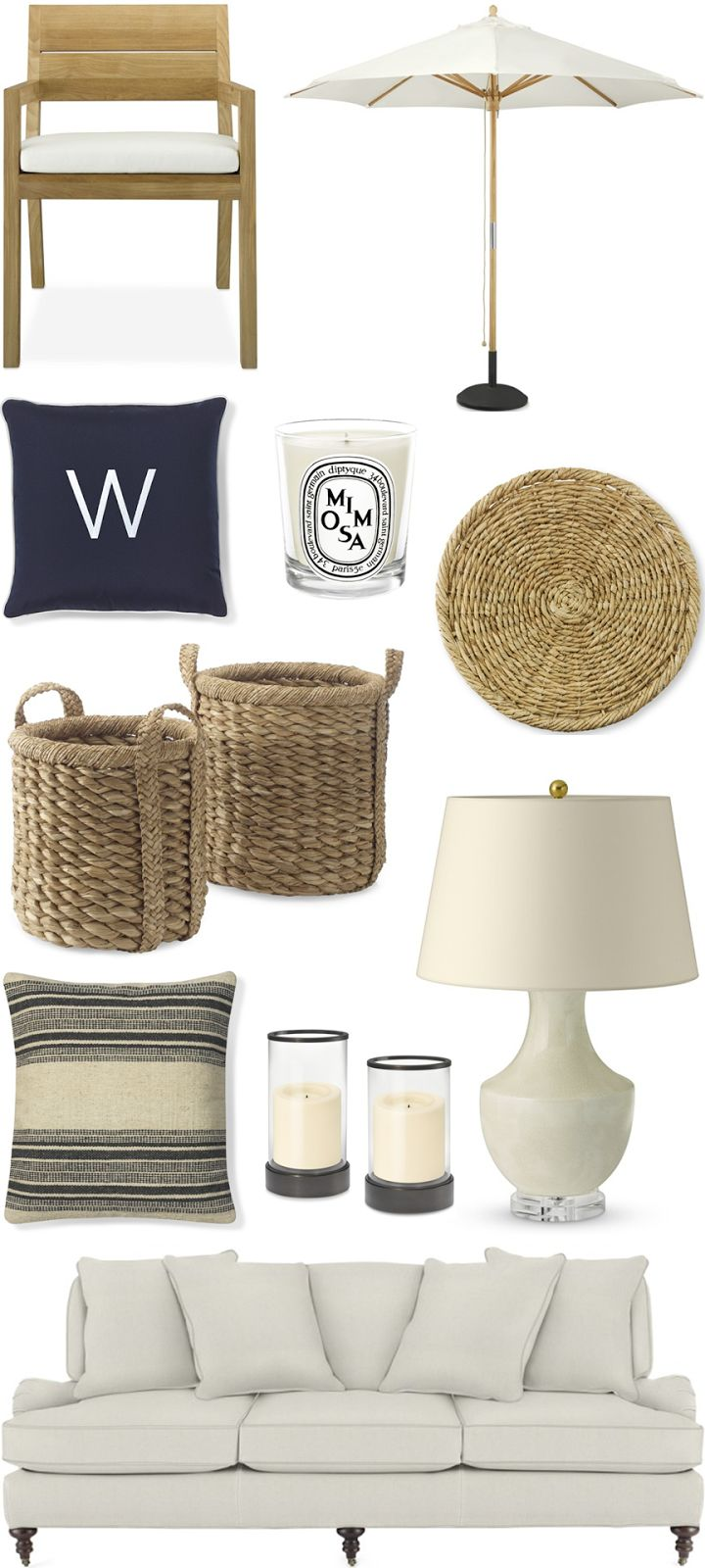 CHIC COASTAL LIVING: Beach House: GET THE LOOK @Williams-Sonoma Home