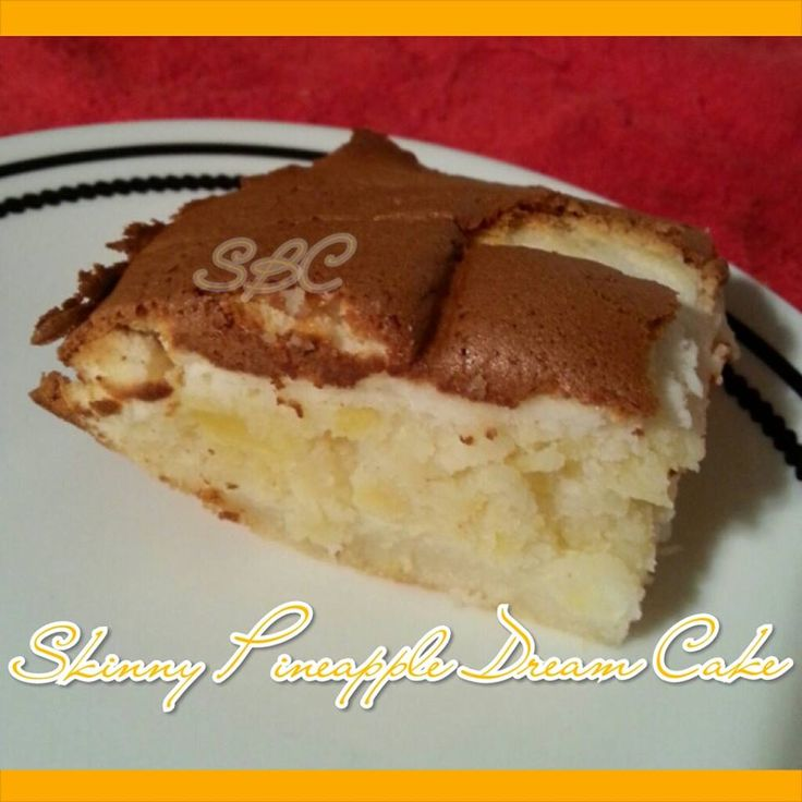 Skinny Pinapple Dream Cake  ♥✿´¯`*•.¸¸✿ღϠ₡ღ✻  Follow me/Friend me for daily recipes, fun & handy tips, motivation, DIY ideas. I am always posting cool things https://www.facebook.com/yvette.guberletperez    ♥✿´¯`*•.¸¸✿ღϠ₡ღ✻ For Motivation, Support, Tips, Recipes, Inspiration and FUN! Join us at https://www.facebook.com/groups/GettingHealthyWithYvette/