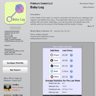 User-friendly baby log to track your newborn's day.