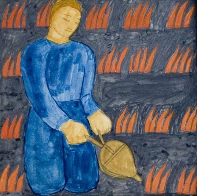 Ferenczy, Noémi - Fire yeast - Other/Unknown art movement - Genre - Watercolour