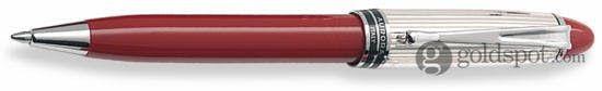 Aurora Ipsilon Silver Sterling Silver Cap w/ Red Barrel Ballpoint Pen
