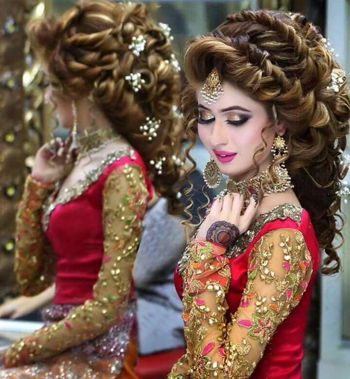 Pakistan bridal make up and hairdos