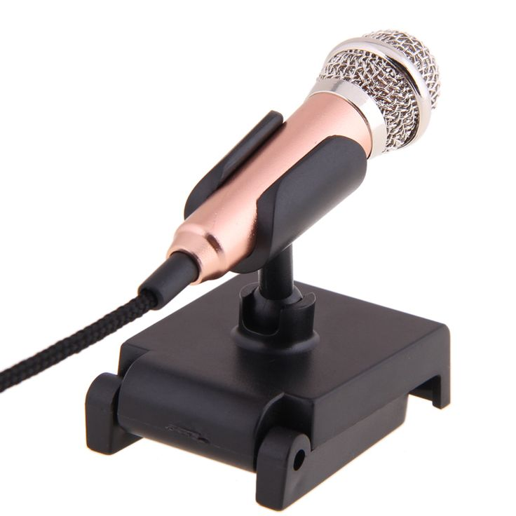 >> Click to Buy << Gold mini 3.5mm Pocket Size Multimedia Clip Mic Microphone with mic stand for PC Laptop Desktop Studio Speech skype #Affiliate