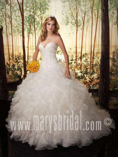 Superb Ruffle skirt with sweetheart neckline PCMarys MarysBridal Bridal