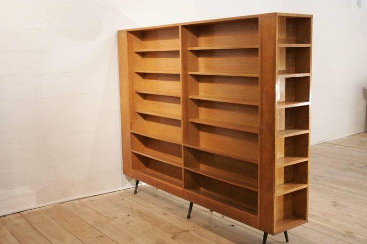 Veneer Oak Midcentury Separation Bookshelve, 1950's