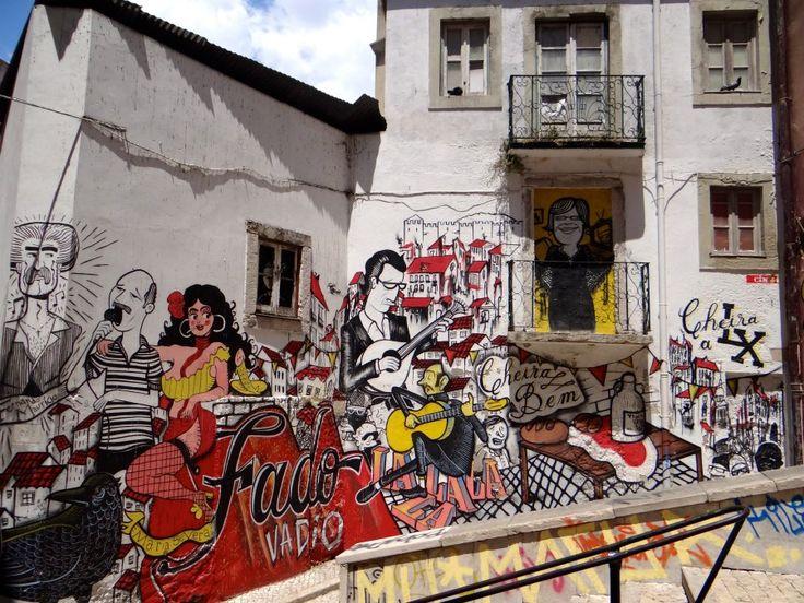 neighborhoods for street art in Lisbon