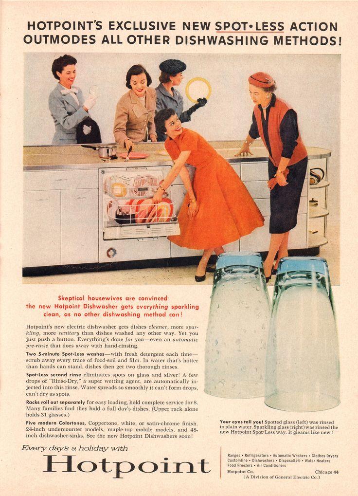 https://flic.kr/p/UVjSBB | 1956 General Electric Hotpoint Dishwasher Advertisement Time Magazine May 21 1956 | 1956 General Electric Hotpoint Dishwasher Advertisement Time Magazine May 21 1956