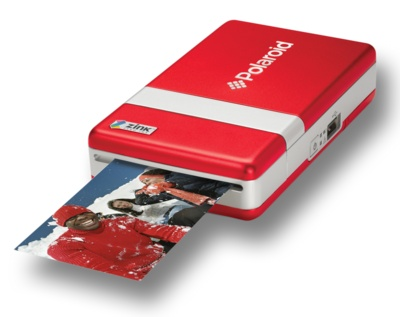 portable polaroid printer that prints 2x3 photos that have a sticky back! and it works with most cameras and cell phone! too cool! only $40! LOVE IT!