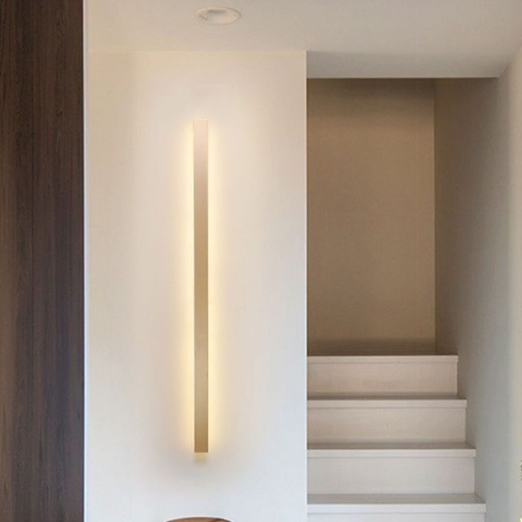 Metal Linear Sconce Light Fixture Minimalist Led Gold Wall Mounted Light In Warm Light Sconce Light Fixtures Wall Mounted Light Sconce Lighting