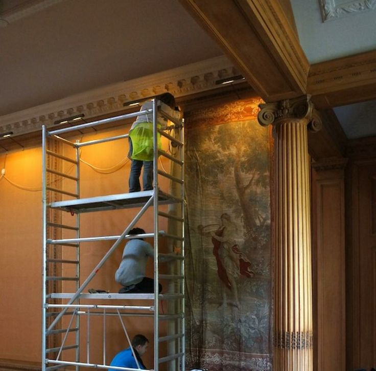 Installing the Tapestries at #Dumfries House | Zardi & Zardi | #bespoke