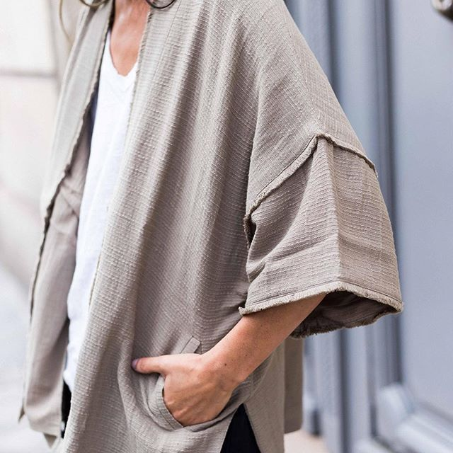 Airy and light kimono for cool summer nights  #fine_paris #summer #newin #cotton #availableonline