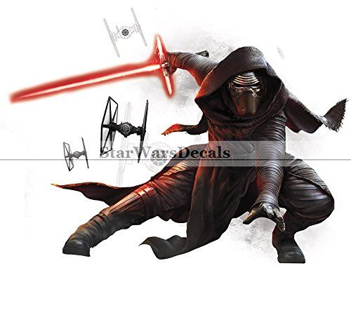 Kylo Knight of Ren Sith Lightsaber First Order Star Wars the Force Awakens Dark Side Episode 7 Removable Wall Decal Sticker Art Home Decor Kids Room11 34 Inches Wide By 9 Inches * Read more  at the image link.
