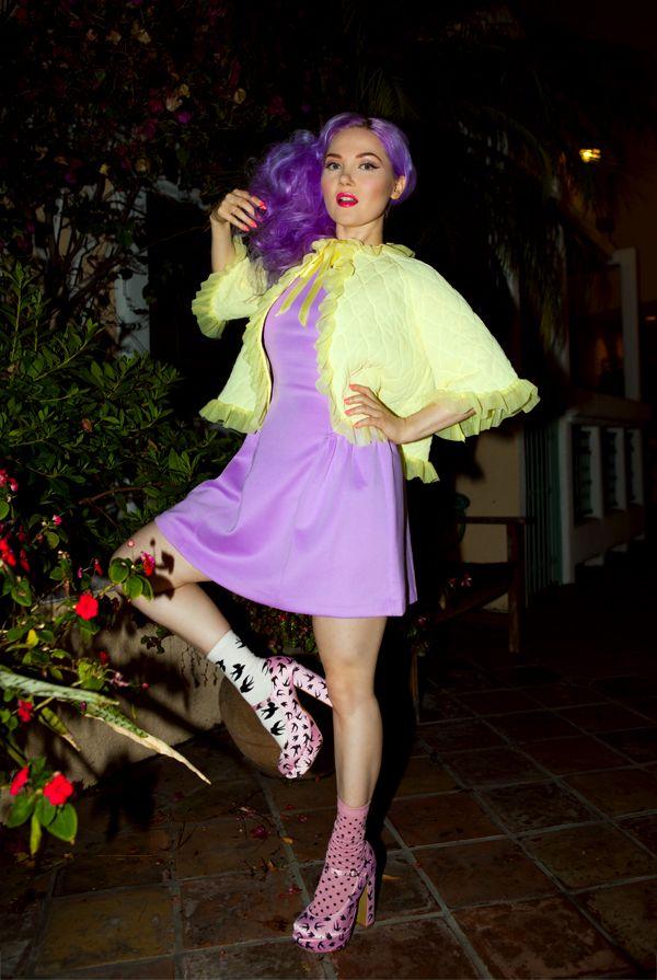 Doe Deere striking her best flamingo pose…