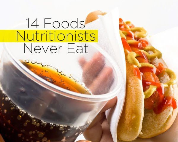 14 Foods Nutritionists Never Eat  http://www.womenshealthmag.com/nutrition/healthy-eating-facts