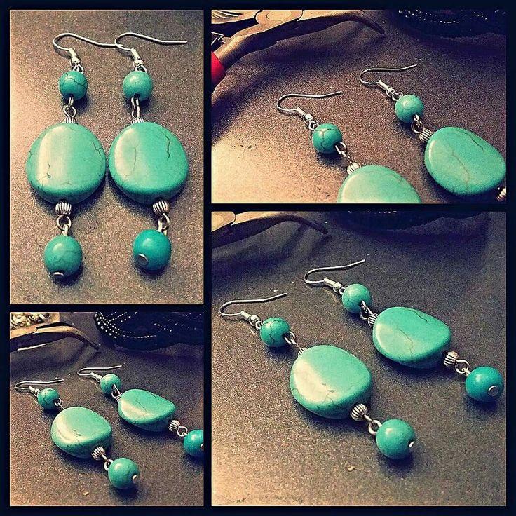 Turquoise earrings by Glaetzer Jewellery Kreations  https://m.facebook.com/GlaetzerJewelleryKreations/
