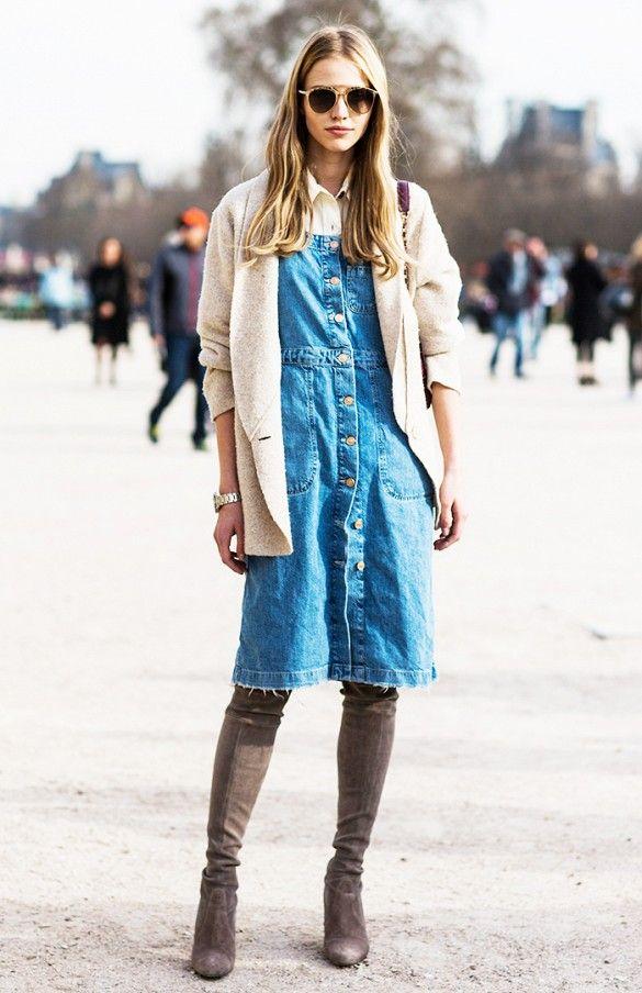 17 Best ideas about Denim Dresses on Pinterest | Summer dresses ...