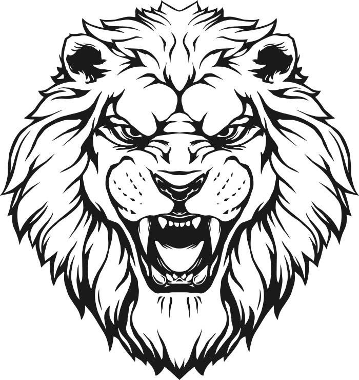 Gallery For Lion Head Png Lion Silhouette Black And White Lion Lion Stencil