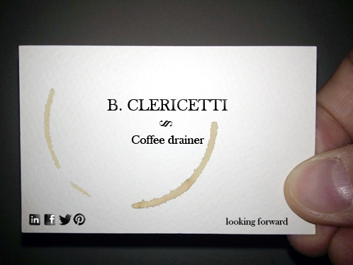 13/02/01 - tip: you shall not have a brainstorming and editing session by yourself with an empty fridge and a Nespresso machine #bclericettijobs #businesscard #newjob
