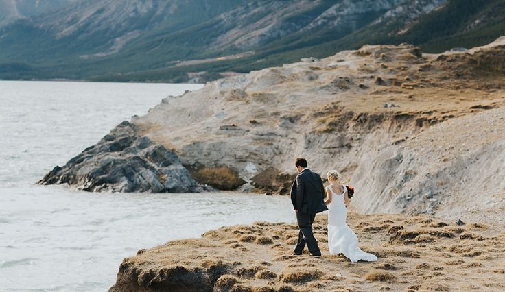 Happy, carefree & romantic wedding photographer in Banff, Calgary, Canmore, Emerald Lake, Lake Louise, Jasper, Nordegg, Kananaskis, Edmonton & Golden.