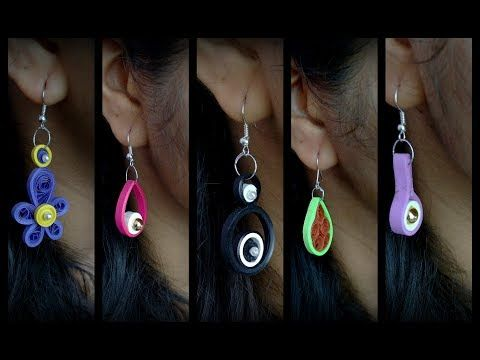DIY Quilling Earring Designs/ Simple paper quilling Earrings. - YouTube