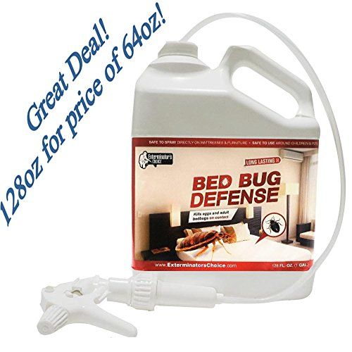 Exterminators Choice Bed Bug Defense All Natural Kills  Repels BedBugs Insect SprayHome bed bug Repellent  KillerSpray for BugsBug Repellent 1 gallon 128 oz -- Check out this great product.
