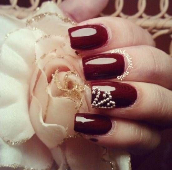 Rose Nail Art A touch of history Far from being a simple gendered fashion,  nail painting is a form of art that has been practiced for thousands of  years. - The 25+ Best Burgundy Nail Designs Ideas On Pinterest Burgundy