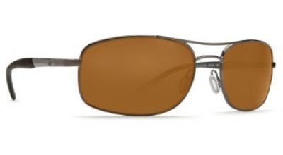 Costa Del Mar Sunglasses - Seven Mile- Plastic / Frame: Satin Gunmetal Lens: Polarized Amber 580 Polycarbonate. Frame Material: Plastic. Lens Material: Plastic. Lens Width: 60mm. Bridge: 18mm. Arm: 135mm.