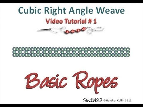 ▶ Cubic Right Angle Weave video Tutorial - YouTube