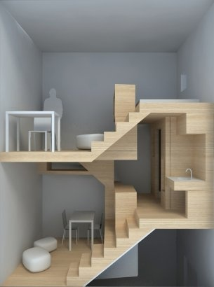 compact vertical living (could get me behind the microapartments idea)