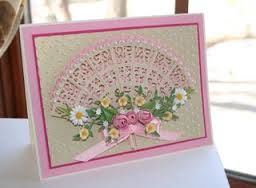 Oriental fan card