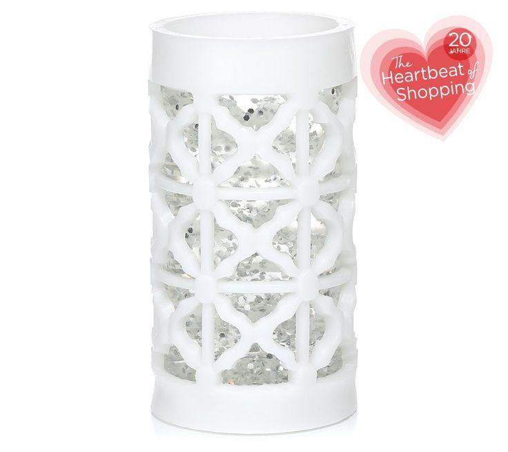 Juni Geburtstagsangebot: ELAMBIA flammenlose Kerze mit Glitzerwasser- Ornamentik Höhe ca. 20cm, in 4 Farben erhältlich zum extra-günstigen Geburtstagspreis! Nur bis Monatsende, nächsten Monat gibt es 20 neue Angebote.