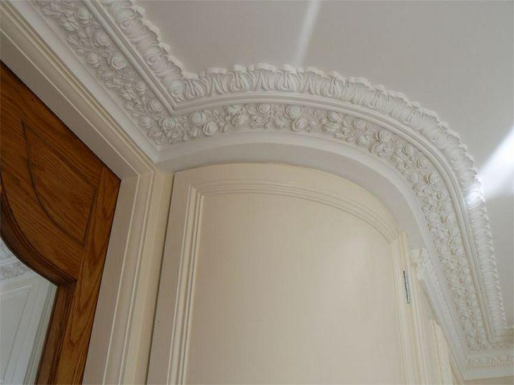 Gypsum Cornice Mould : Curved cornice stucchi intaglio colata pinterest