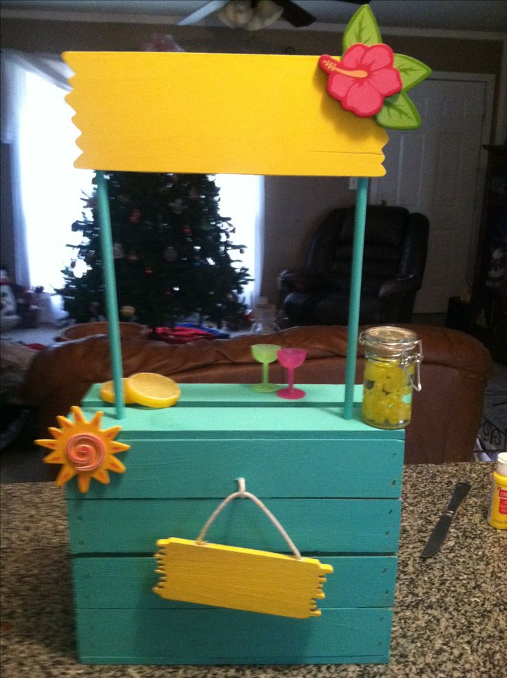 American girl lemonade stand! Pretty sure Brittany's head would explode if she saw this in our backyard this summer. :)