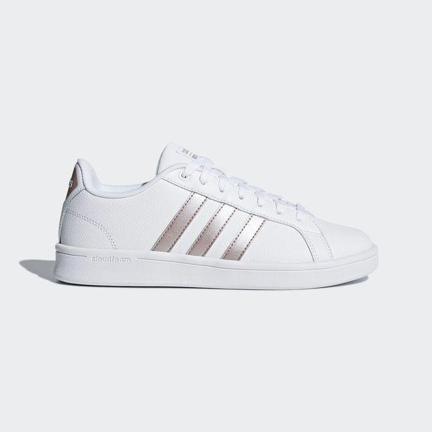 buscar oficial rico y magnífico mayor descuento zapatillas blancas detalle metalizado adidas | Zapatillas blancas ...
