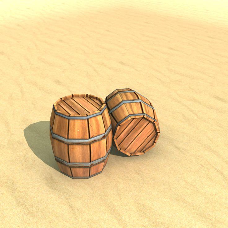 Low poly barrel, Chetan Ranjan on ArtStation at https://www.artstation.com/artwork/EEQzA