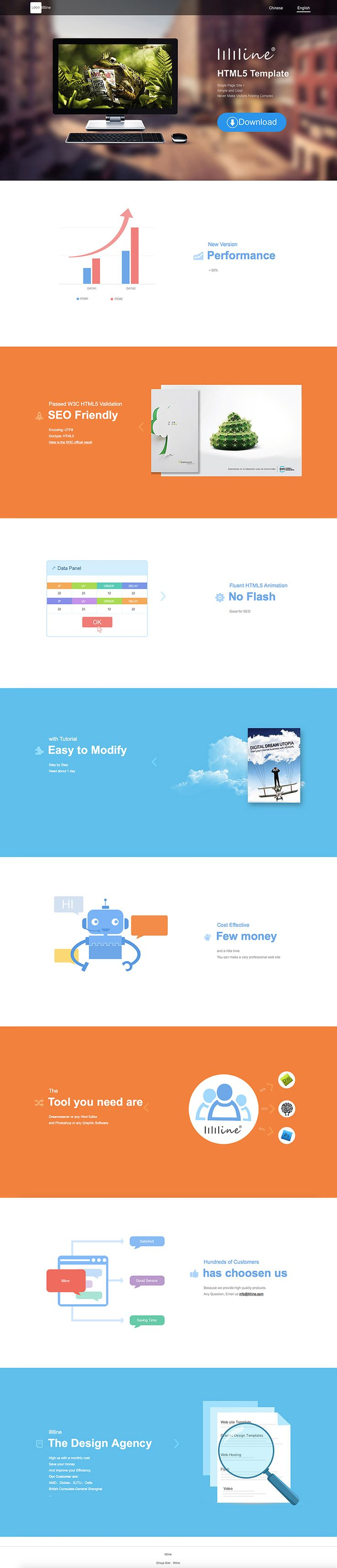 HTML5 Single Site Template(Software Company)
