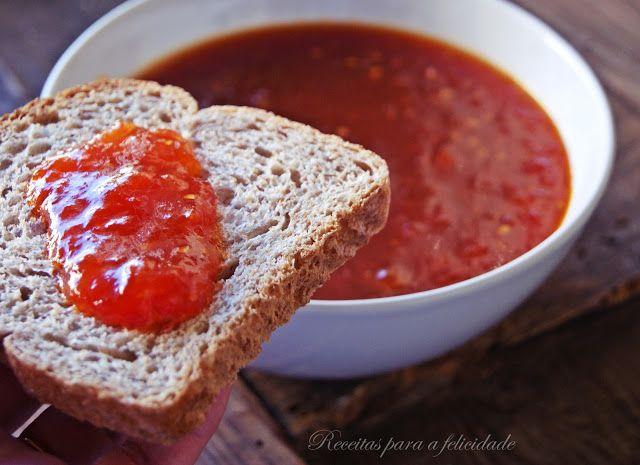 Receita de Doce de Tomate feito na Cuisine Companion do blogue Receitas para a Felicidade