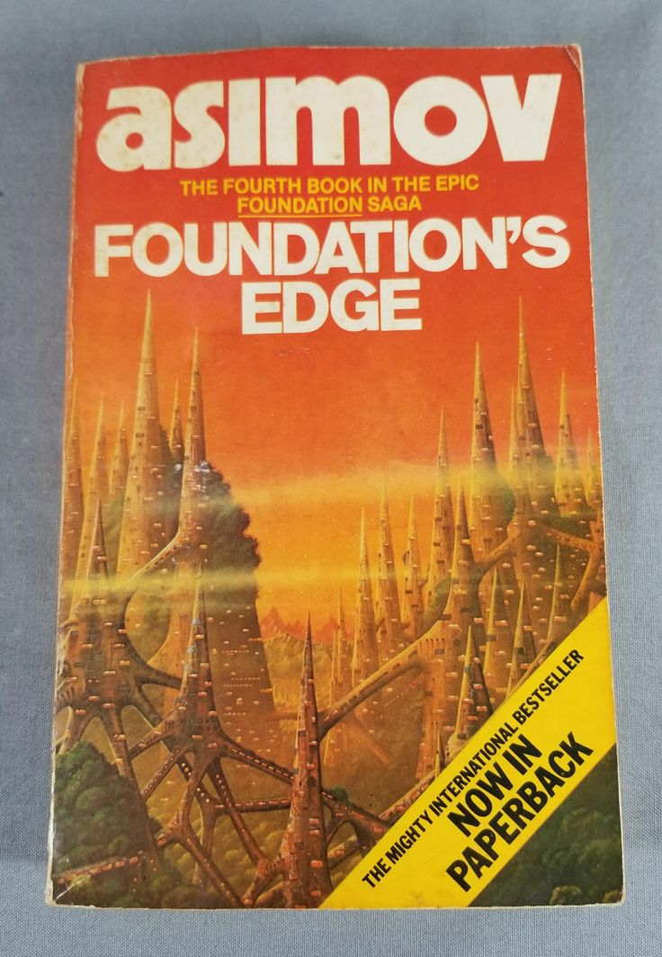 Book ~ Isaac Asimov ~ Foundation's Edge ~ Book 4 ~ Foundation Series ~ Paperback ~ Pocket Book ~ Best Seller ~ My Nostalgic Life by MyNostalgicLife on Etsy